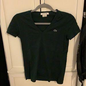 Lacoste Forest Green Short Sleeve Shirt